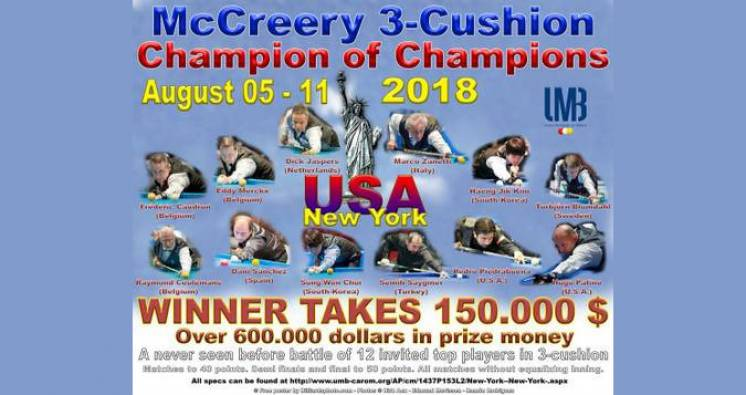 The Groundbreaking McCreery 3-Cushion Champion of Champions