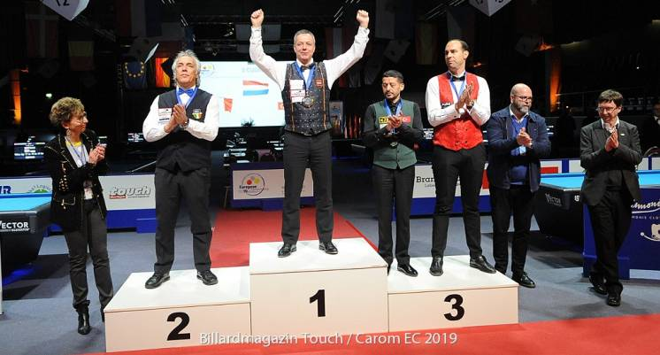 Dick  Jaspers Wins the European 3-Cushion Championship