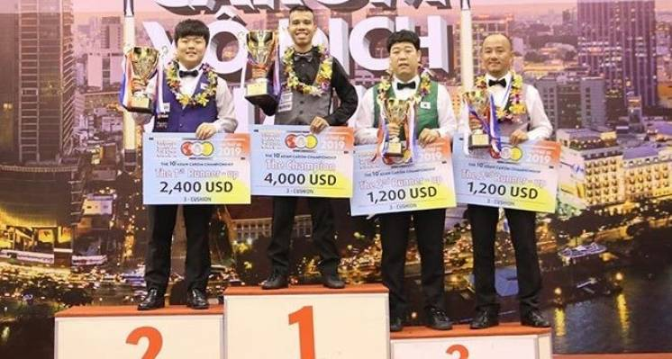 Quyet Chien Tran Wins The Asian 3-Cushion Championship