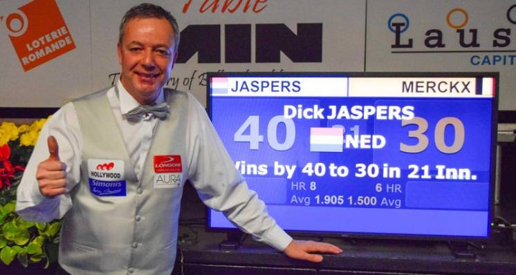 Dick Jaspers Wins His Third Lausanne Billiard Masters